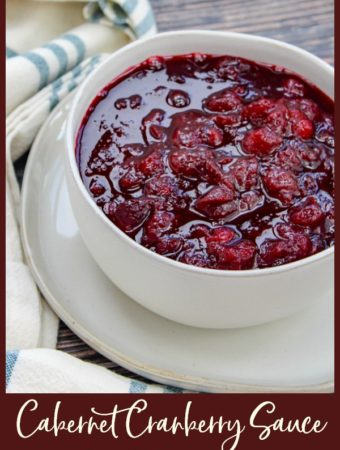 Cranberry sauce in a white bowl