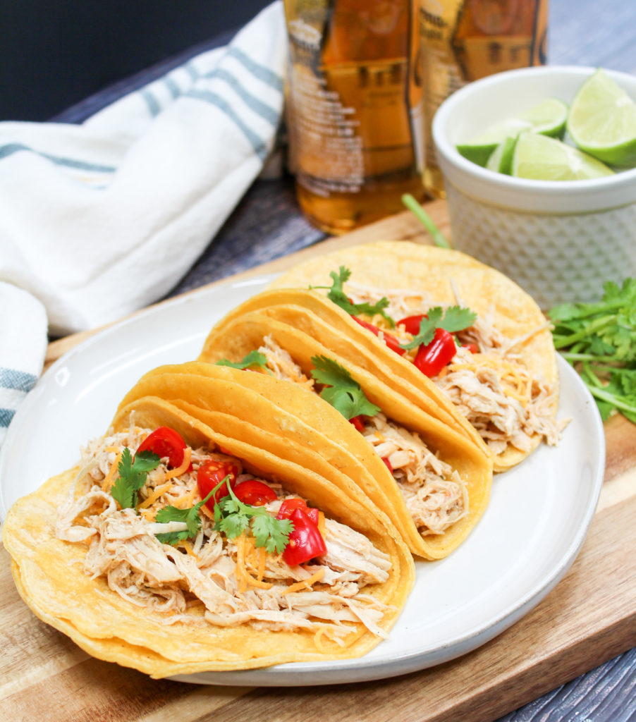 Slow Cooker Cheddar Beer Chicken Tacos Instant Pot Instructions Too