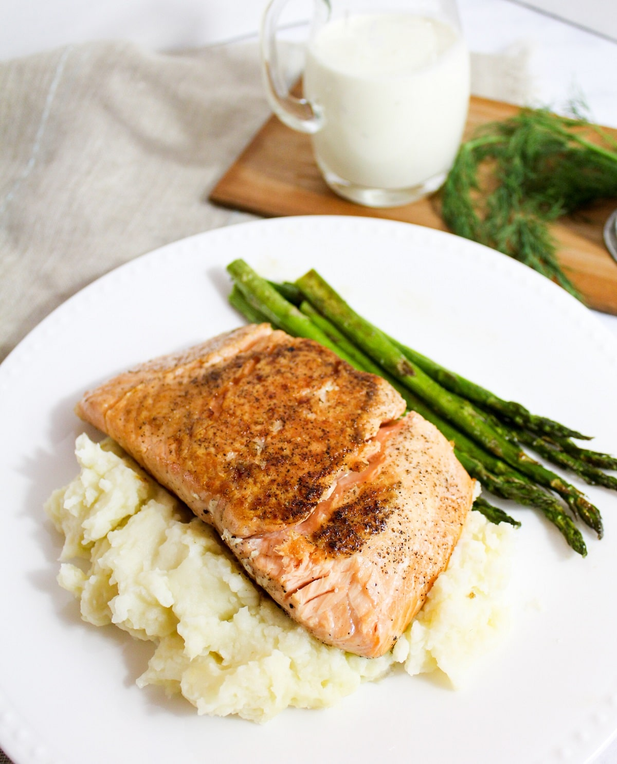 salmon without sauce