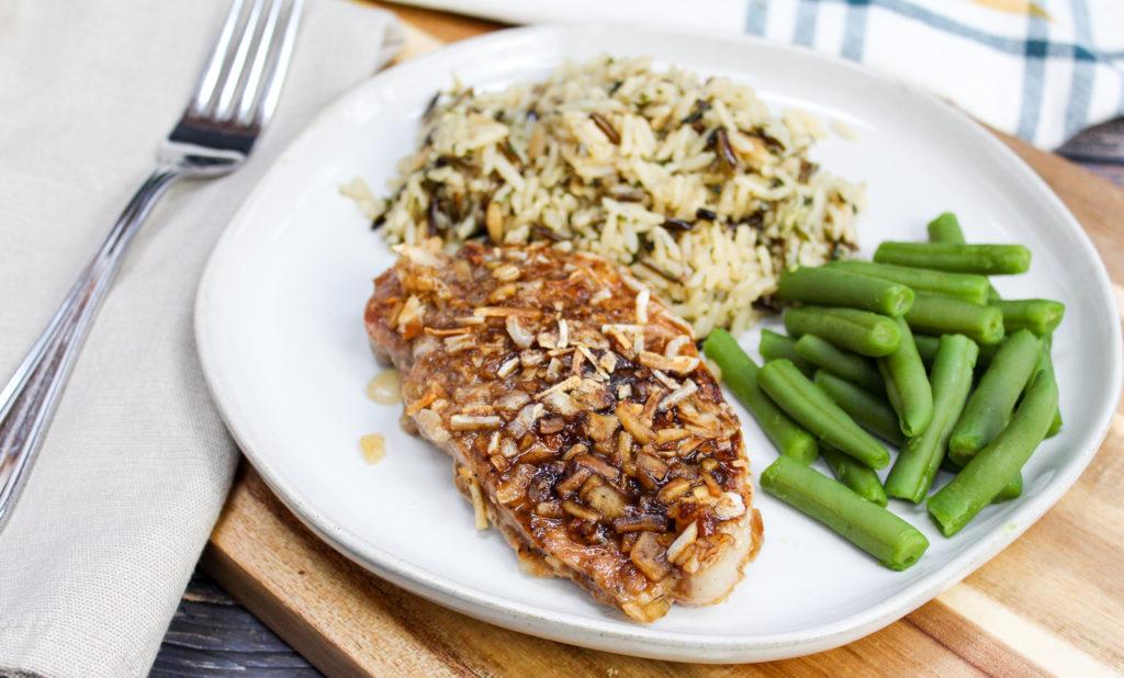 Pork chop on a plate