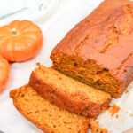 sliced pumpkin bread