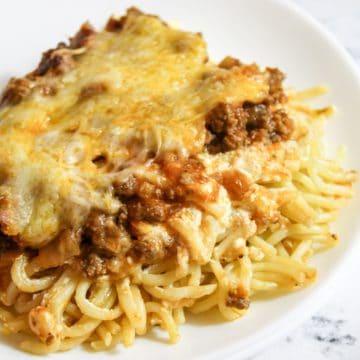 plated spaghetti