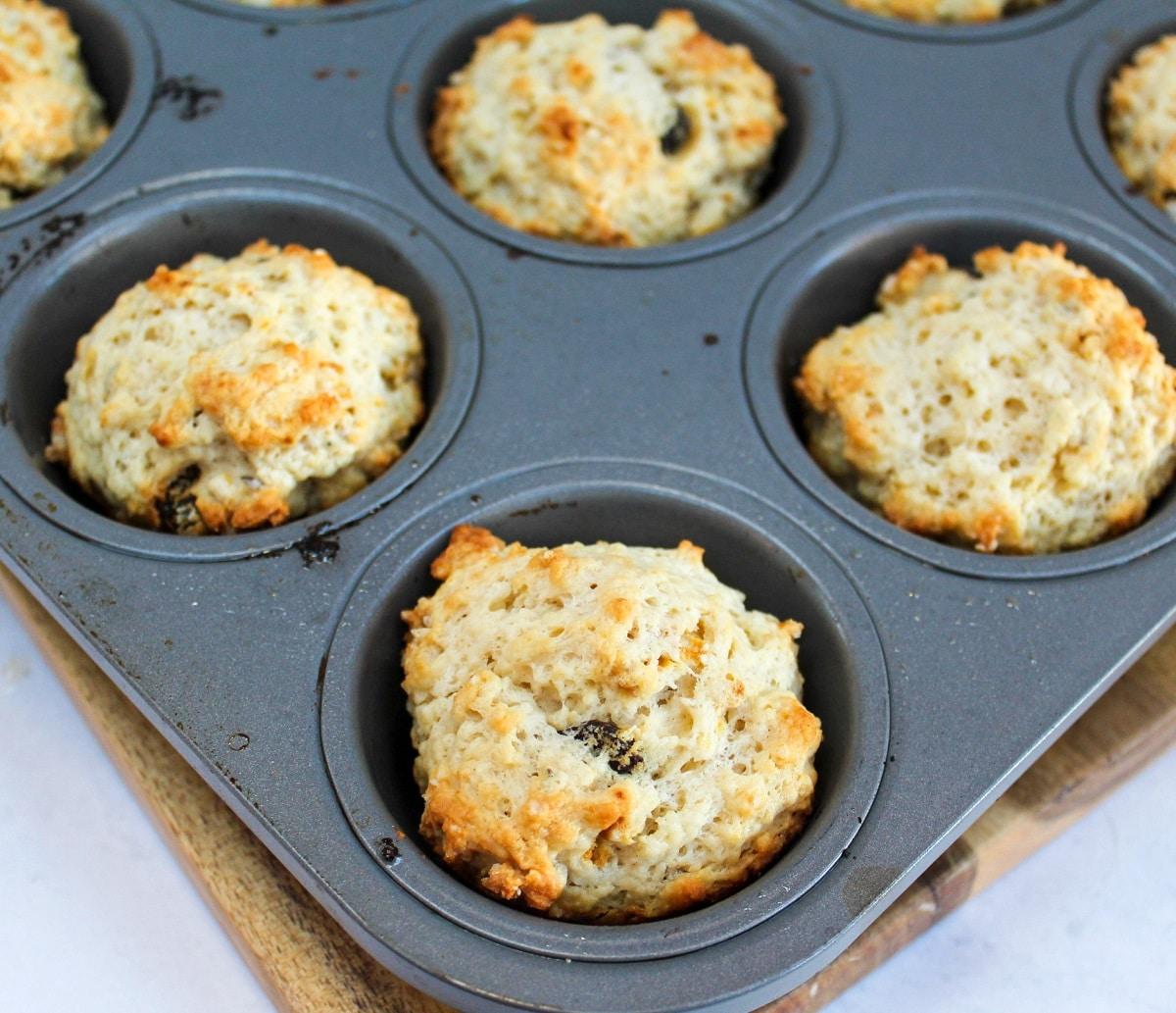 cooked irish soda bread muffins