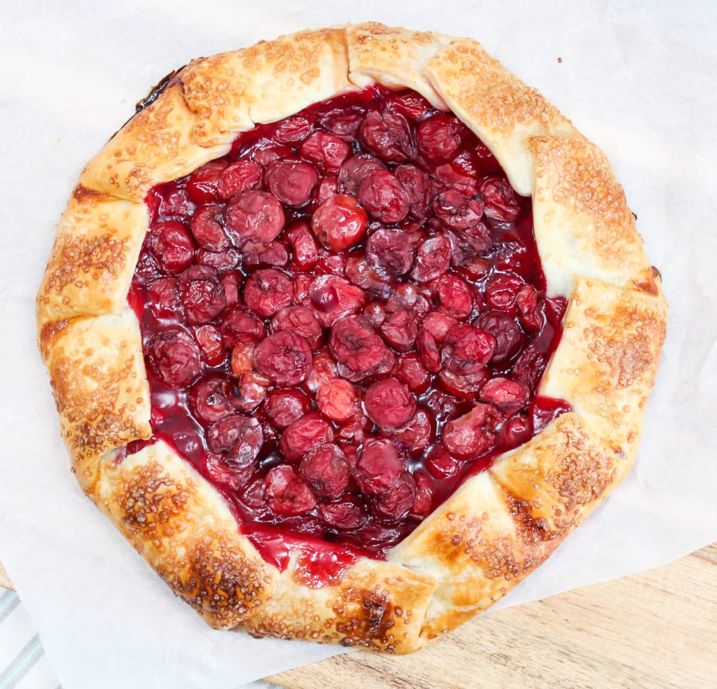overhead picture of a baked galette