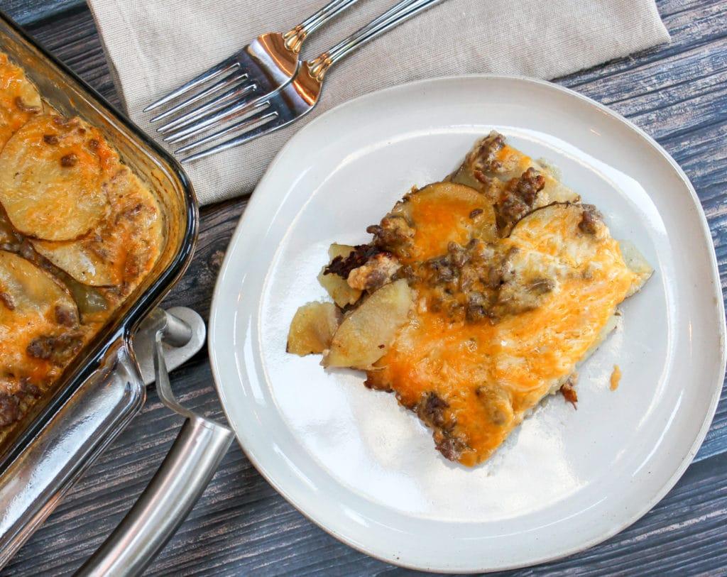 casserole on a plate