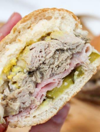 sandwich held in hand