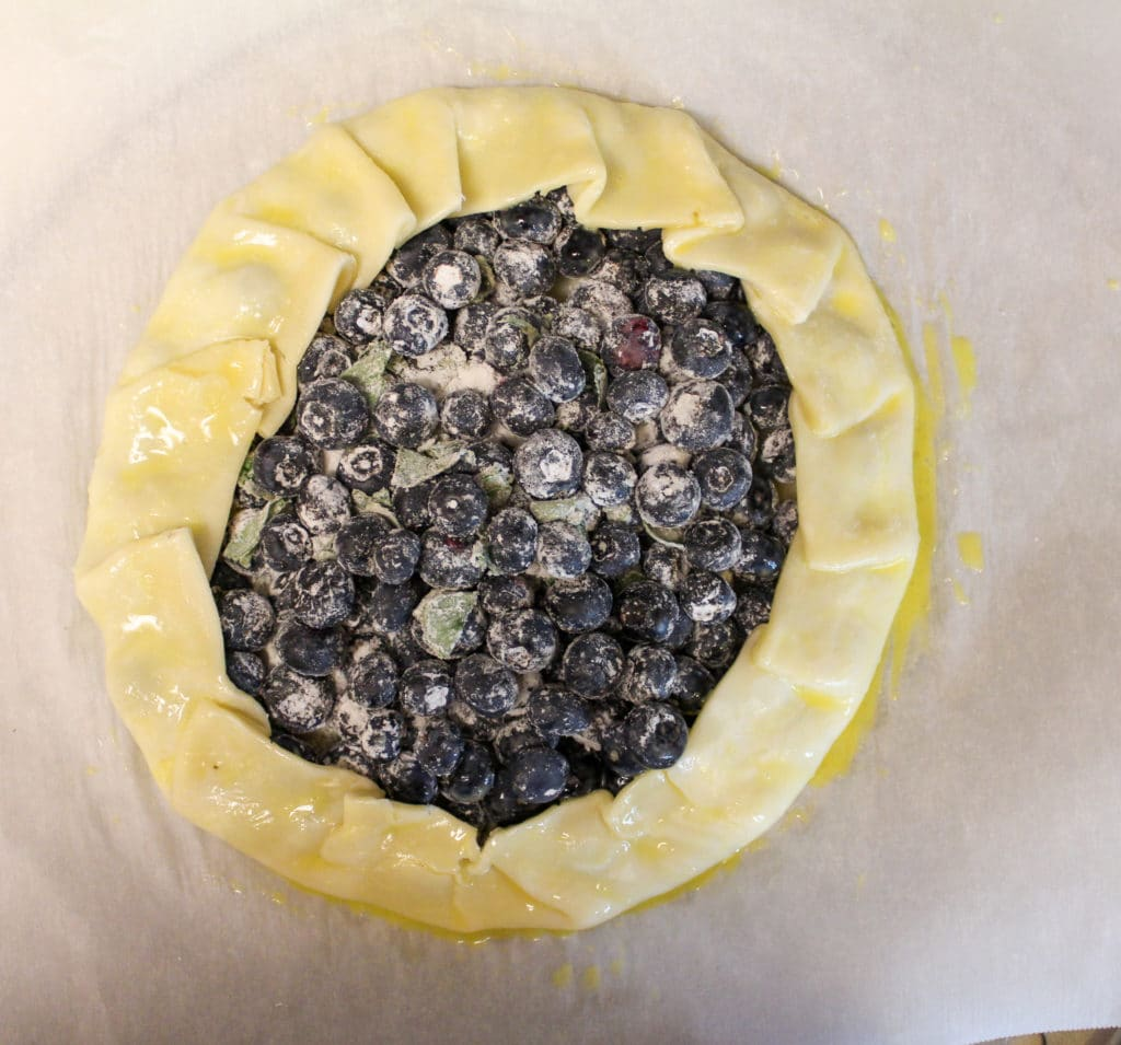 blueberry galette process photos