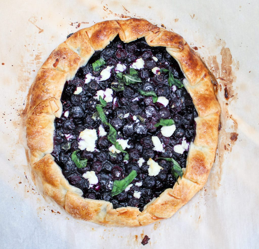 blueberry galette overhead shot