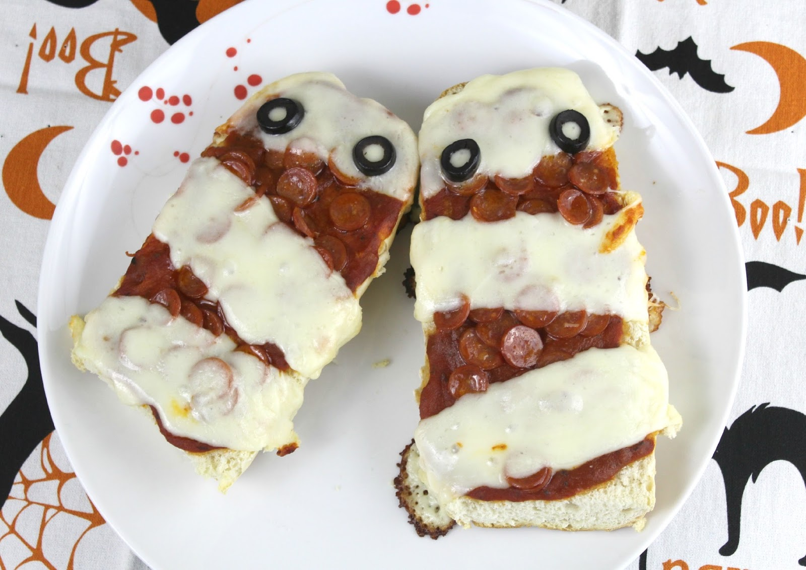 French bread with pizza toppings
