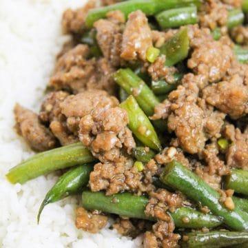 Szechuan Green Beans and Ground Pork