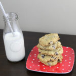 cookies on a plate with milk