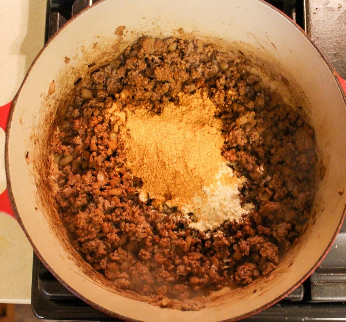 soup with seasonings