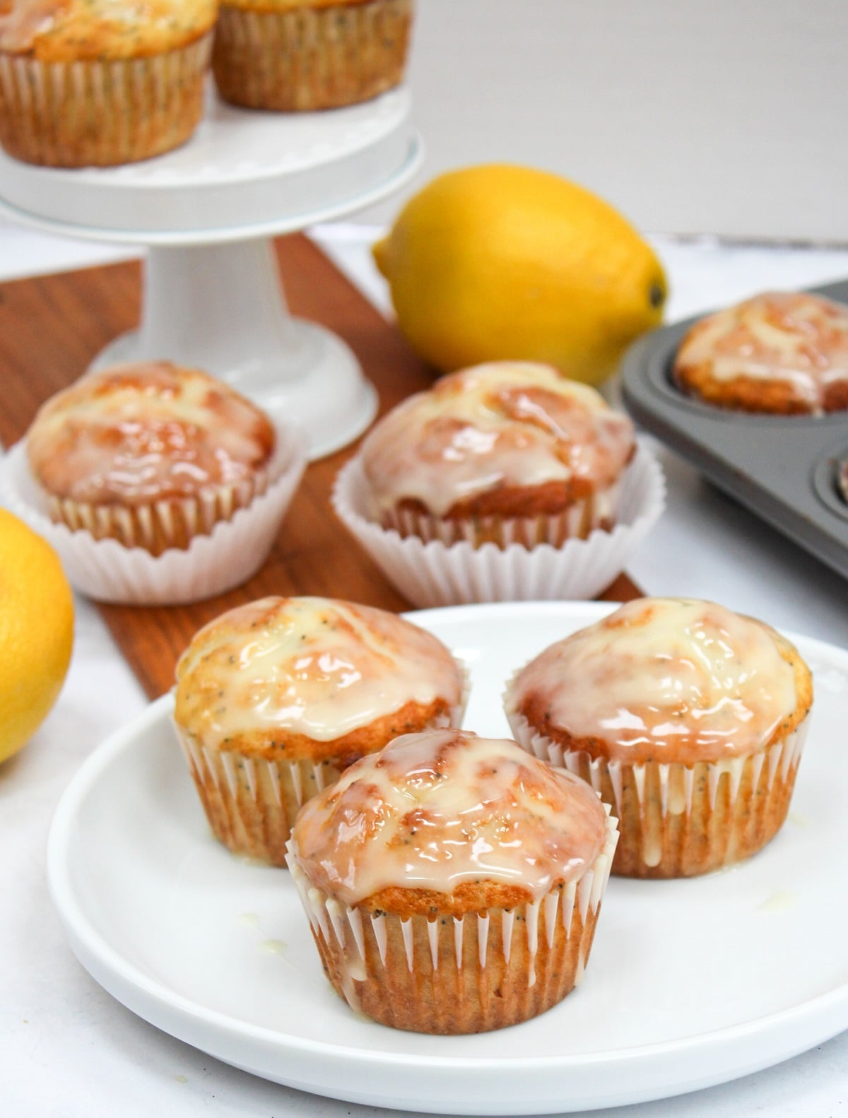 meyer lemon poppy seed muffin plated