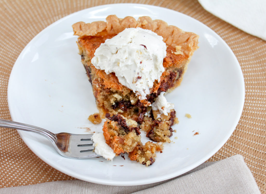 slice of pie on a plate