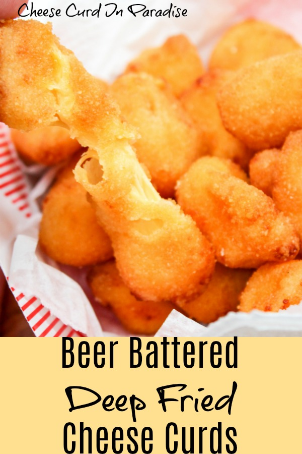 cheese curds in a basket. pinterest image.
