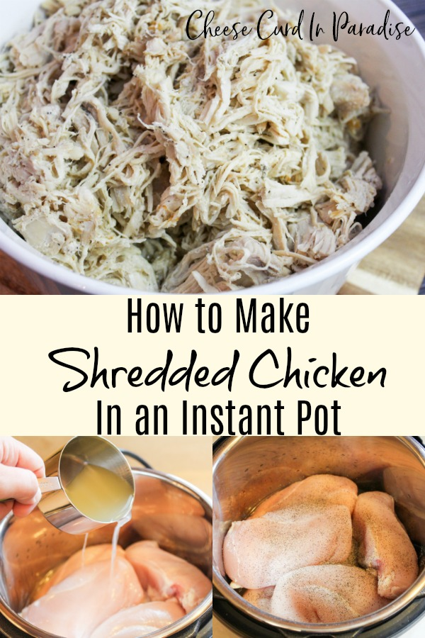 shredded chicken in a bowl
