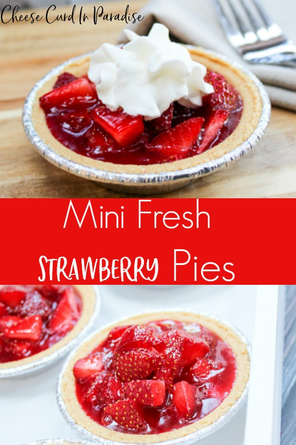 strawberry pie on a table with a fork
