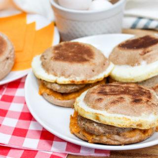breakfast sandwiches on a plate
