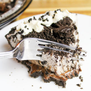 oreo pie in the pie pan