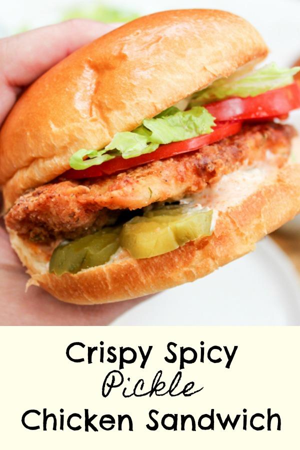 chicken sandwich in hand