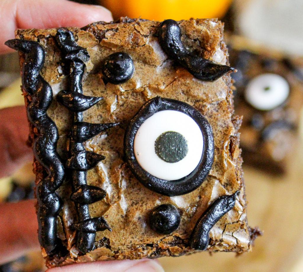 brownies held in hand