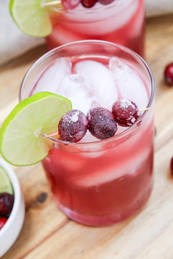 cranberry margarita in a glass