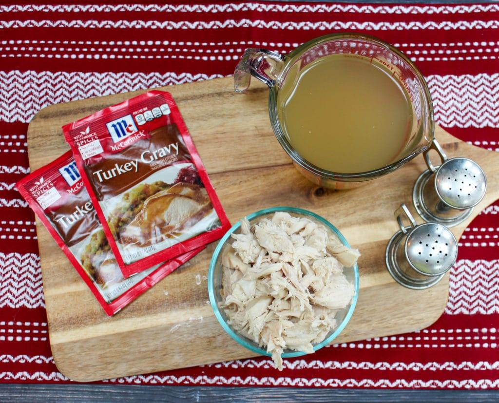 turkey and gravy ingredients