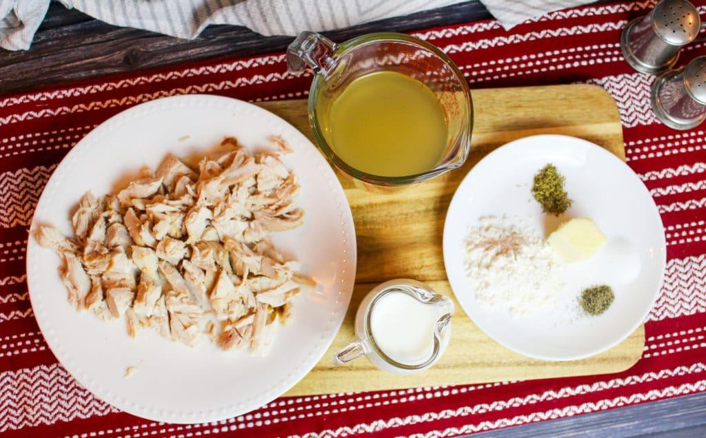 creamed turkey ingredients