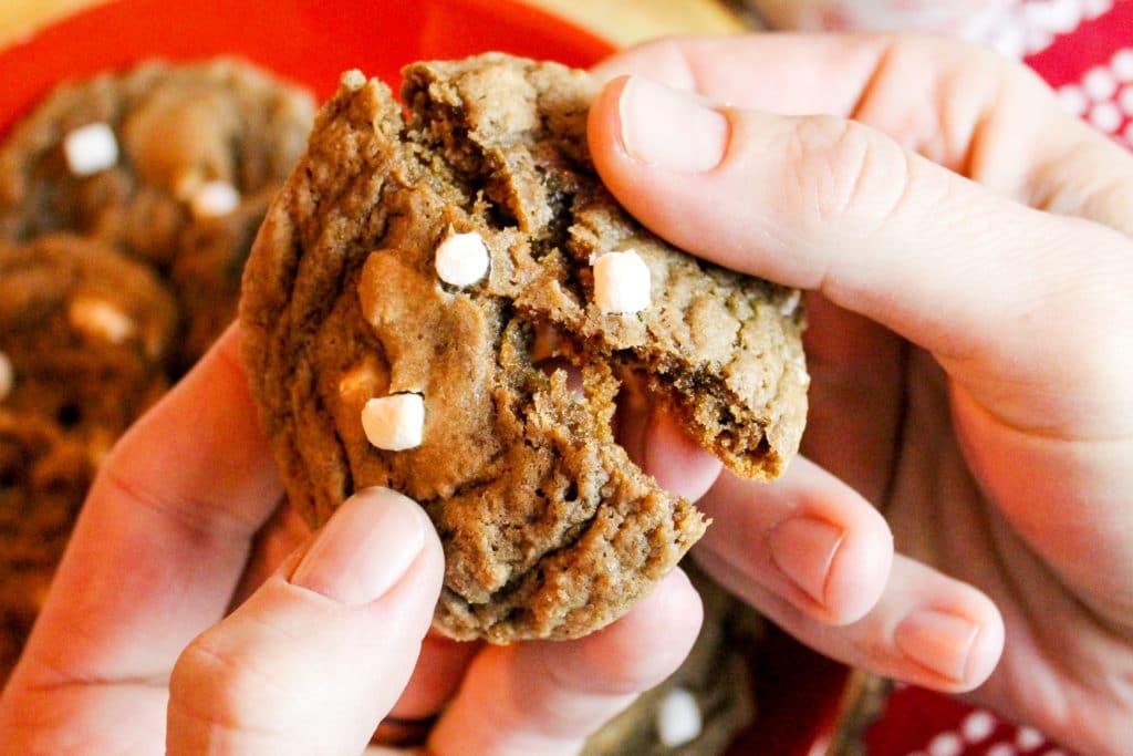 cookies being broken in half