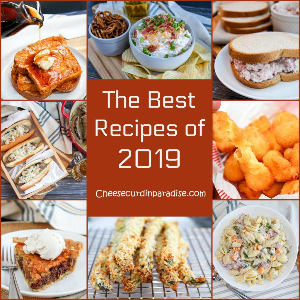 collage of the recipes chosen as best of 2019