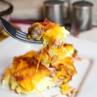 breakfast casserole on a plate