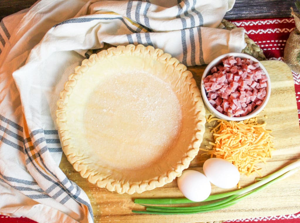 Ham and Cheese Quiche ingreidents