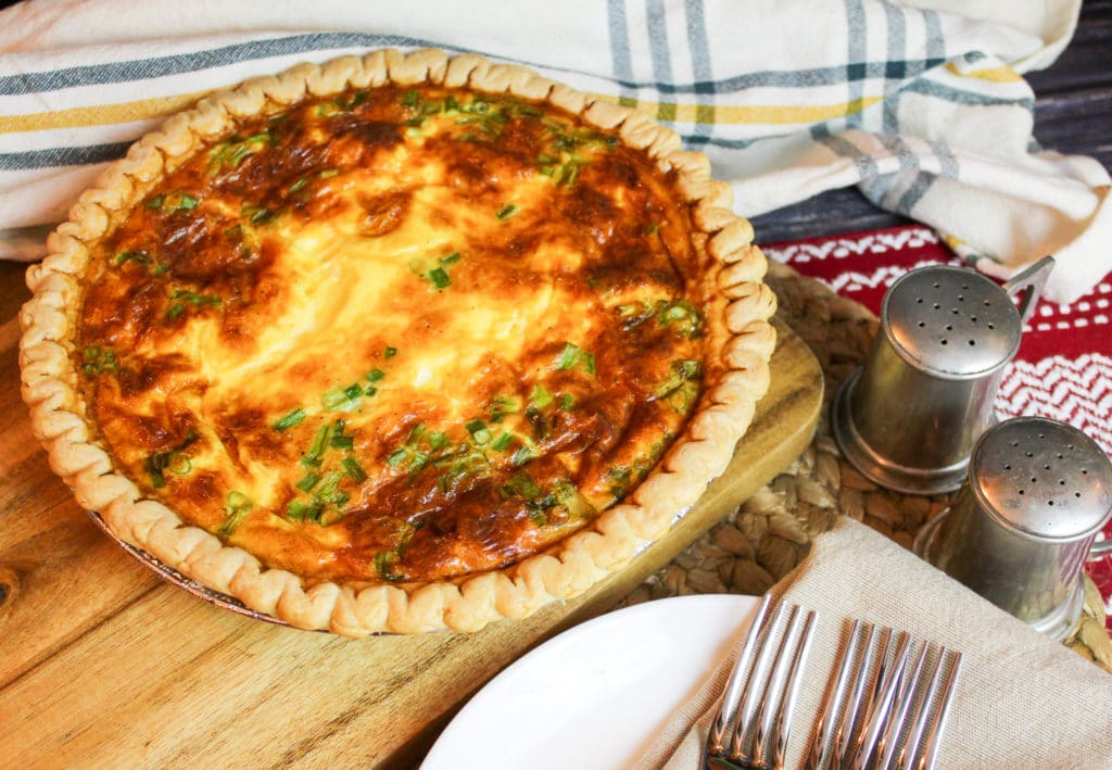 Ham and Cheese Quiche not sliced
