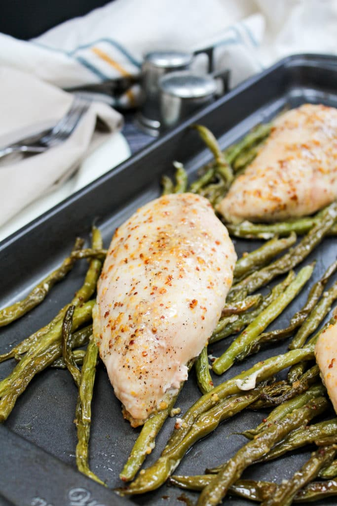chicken on a  sheet pan