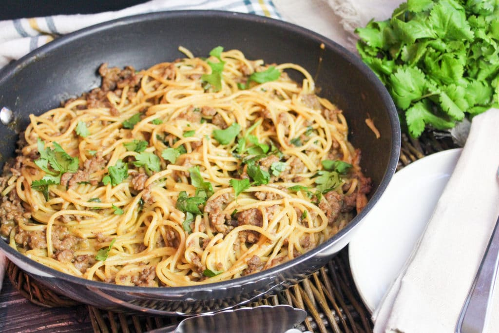 pasta in a killet