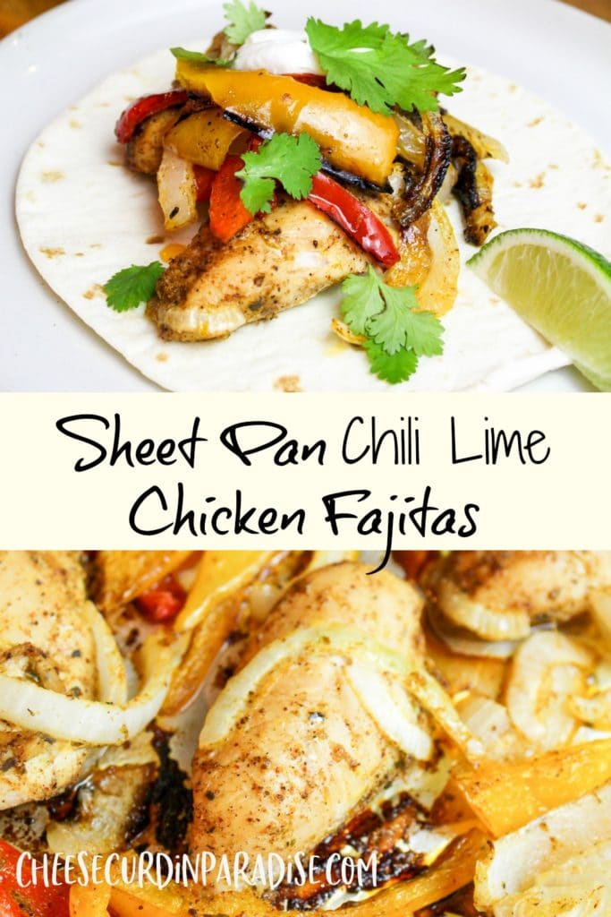 chicken in a tortilla and on a sheet pan