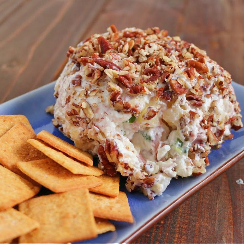 cheese ball on a plate