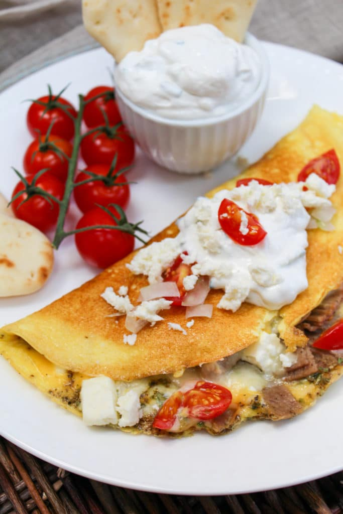 omelette on a plate