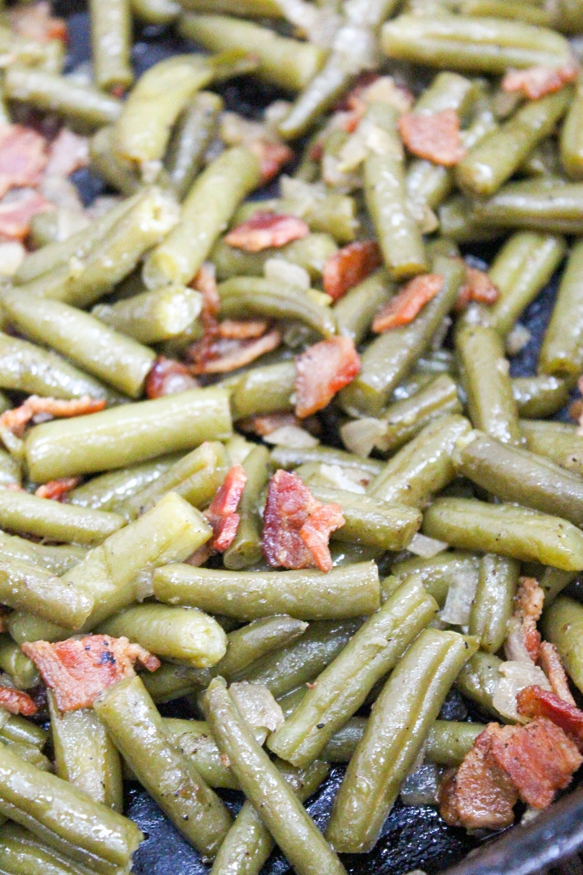 close-up picture of green beans