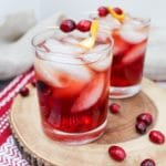 cranberry old fashion in a glass