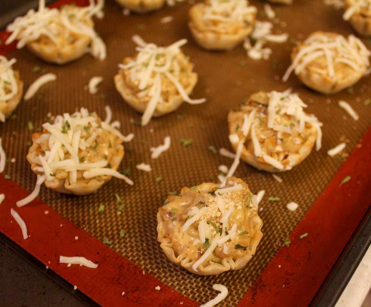 uncooked onion tarts