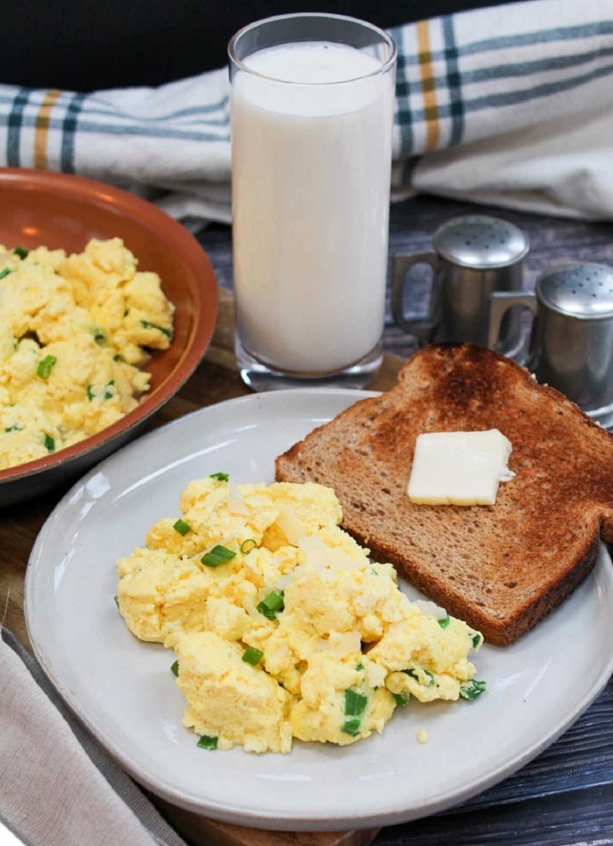 eggs on a plate with toast