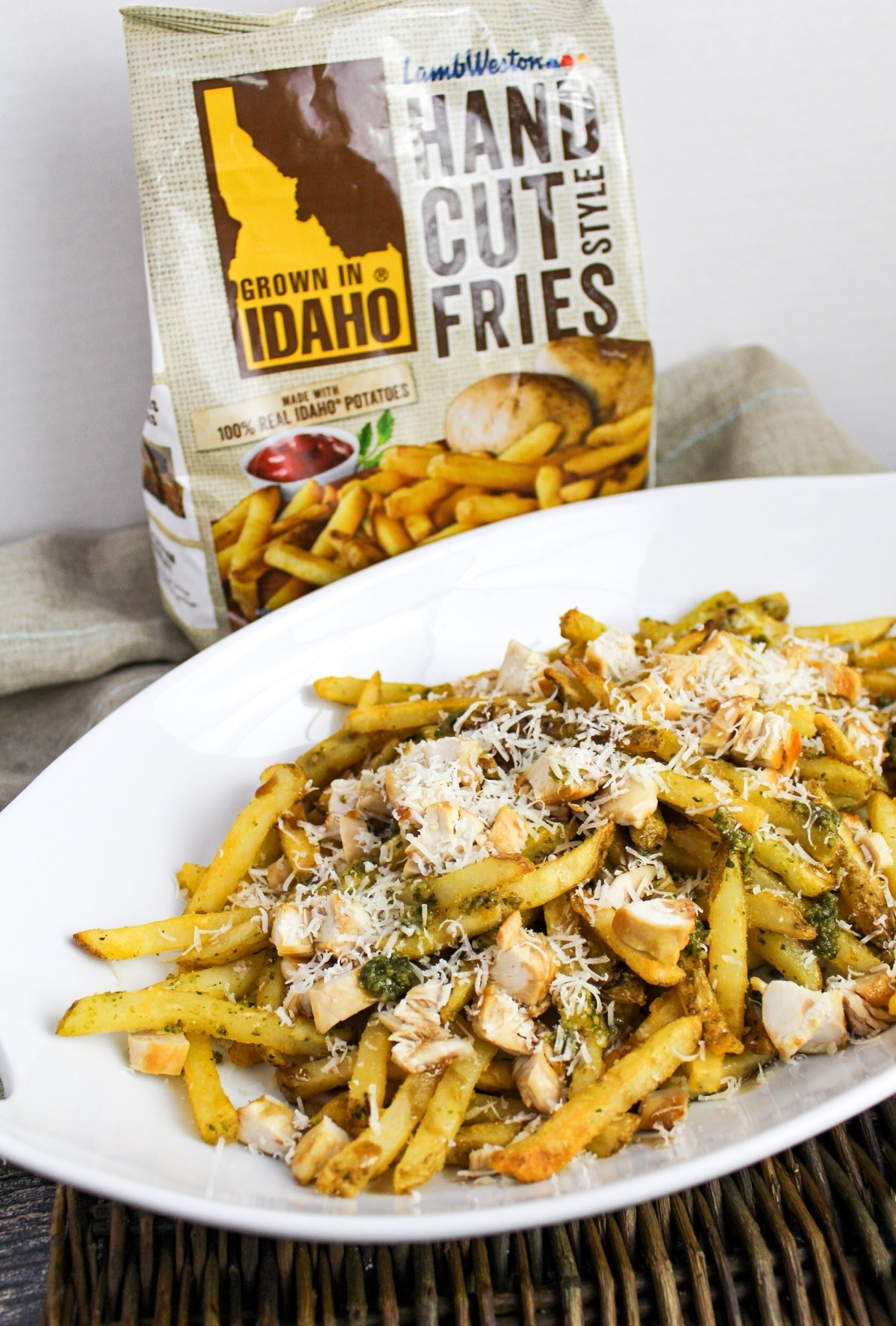 Pesto Chicken Fries with fry bag
