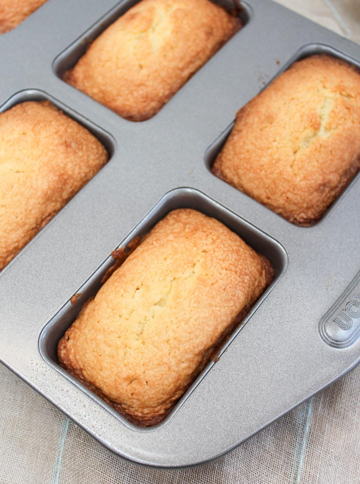 cake in a baking pan