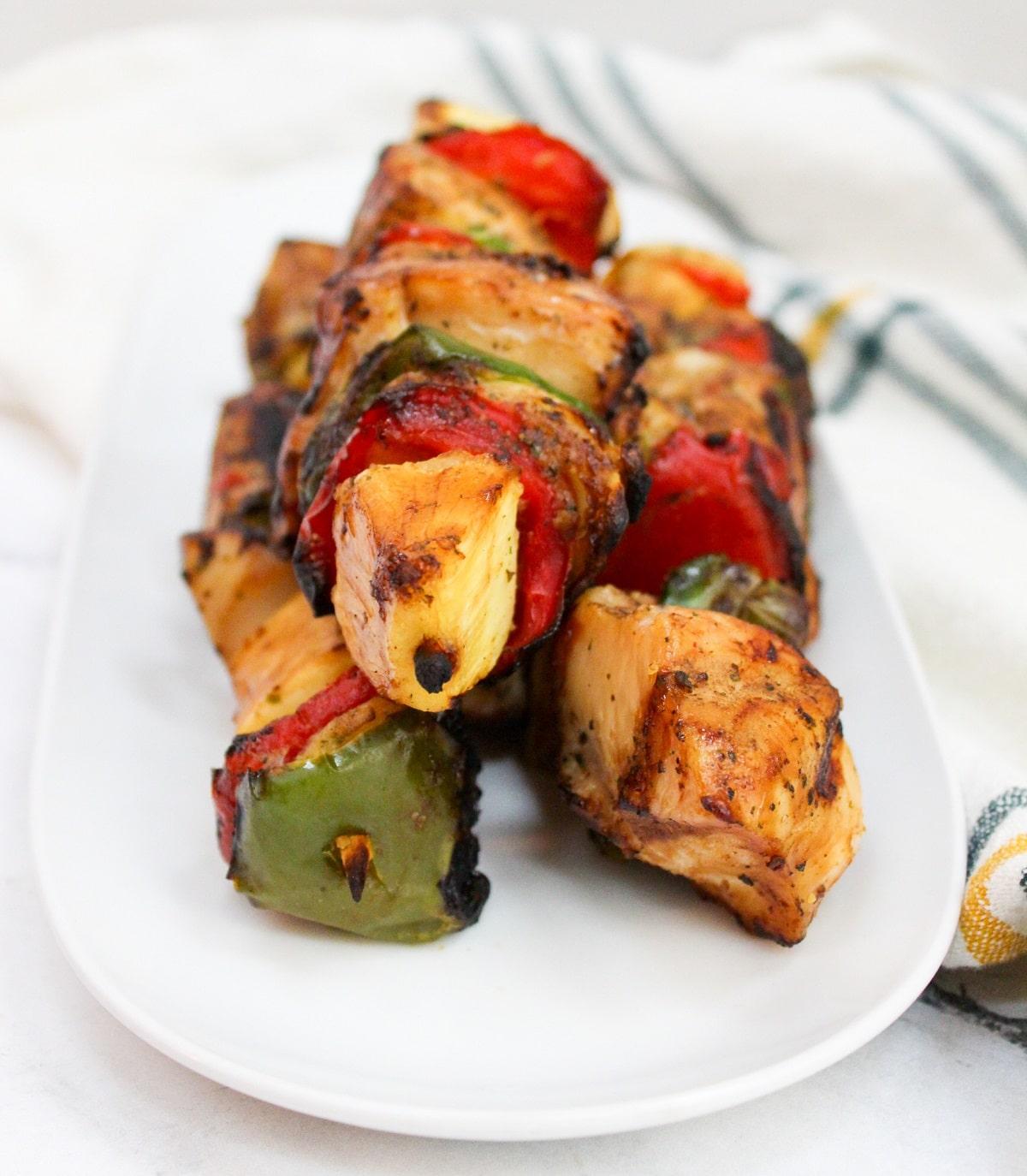 grilled teriyaki chicken kabob