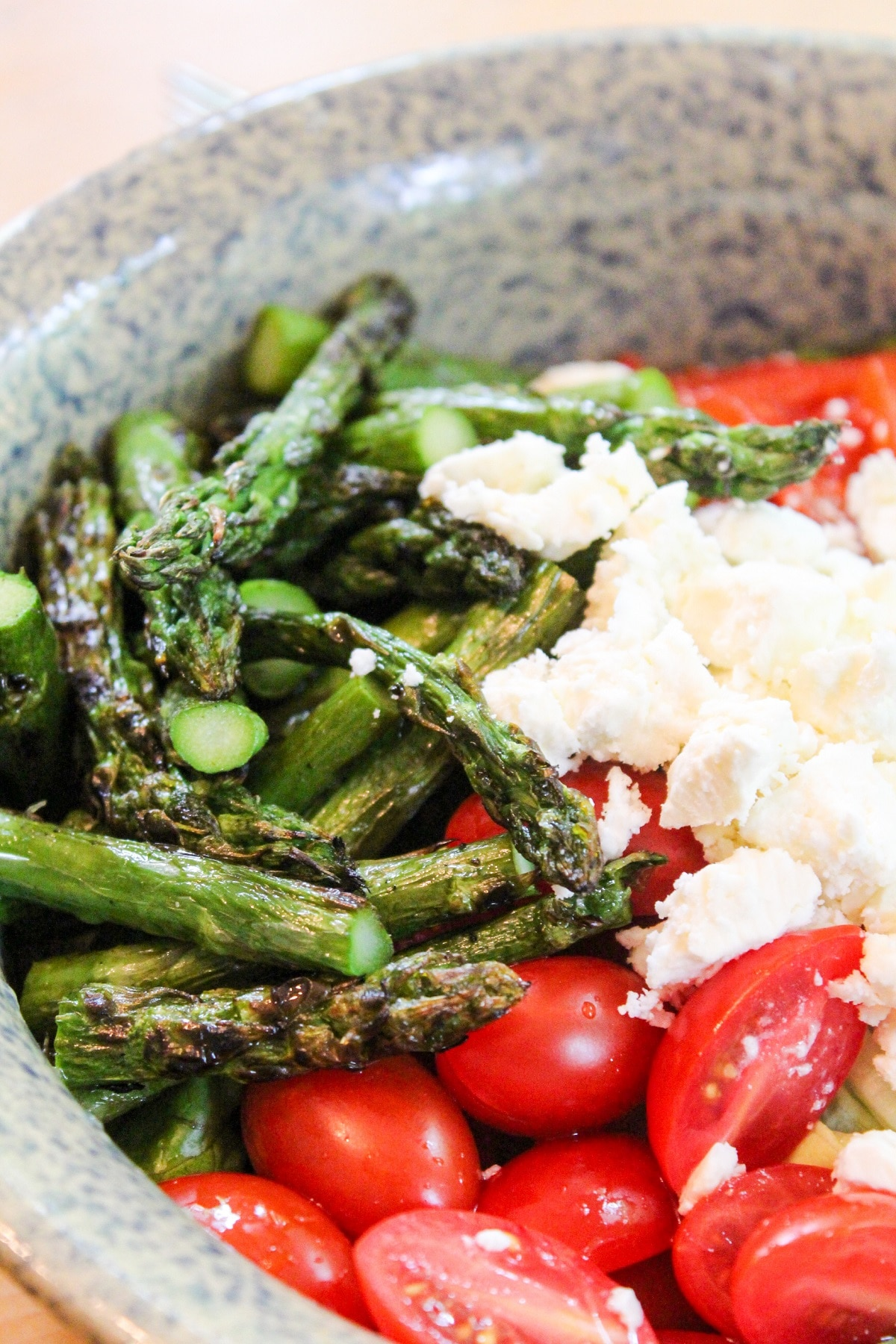 chopped grilled asparagus