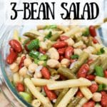 classic 3-bean salad in a small bowl