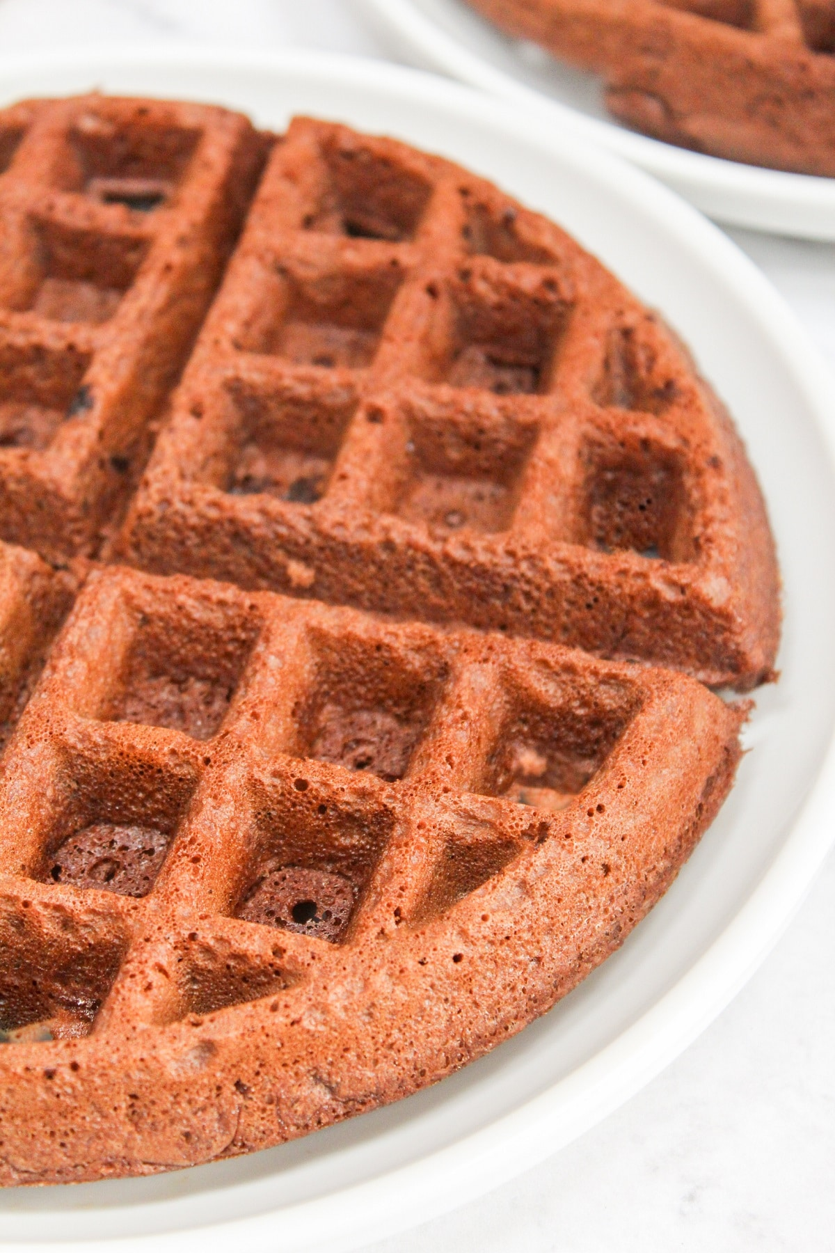 plain brownie waffle