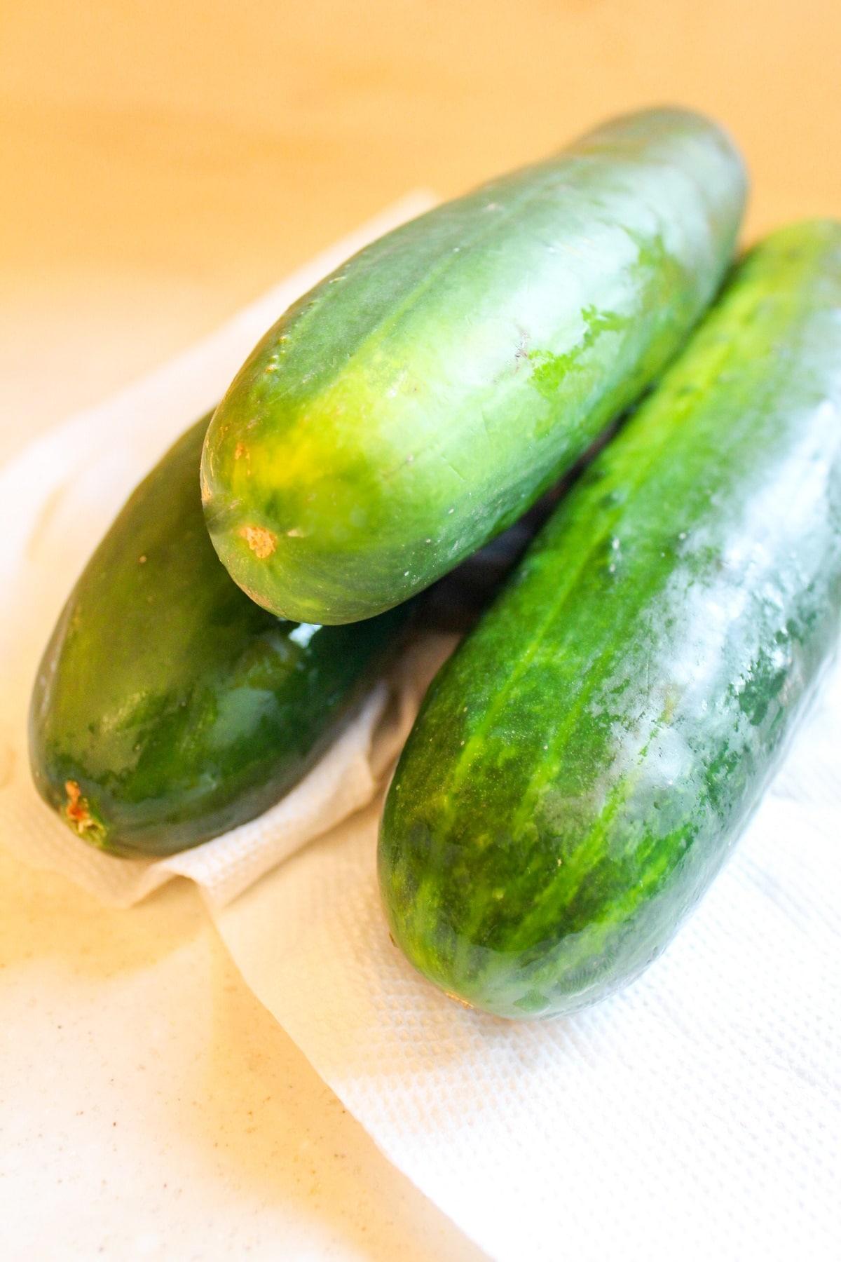 whole cucumbers