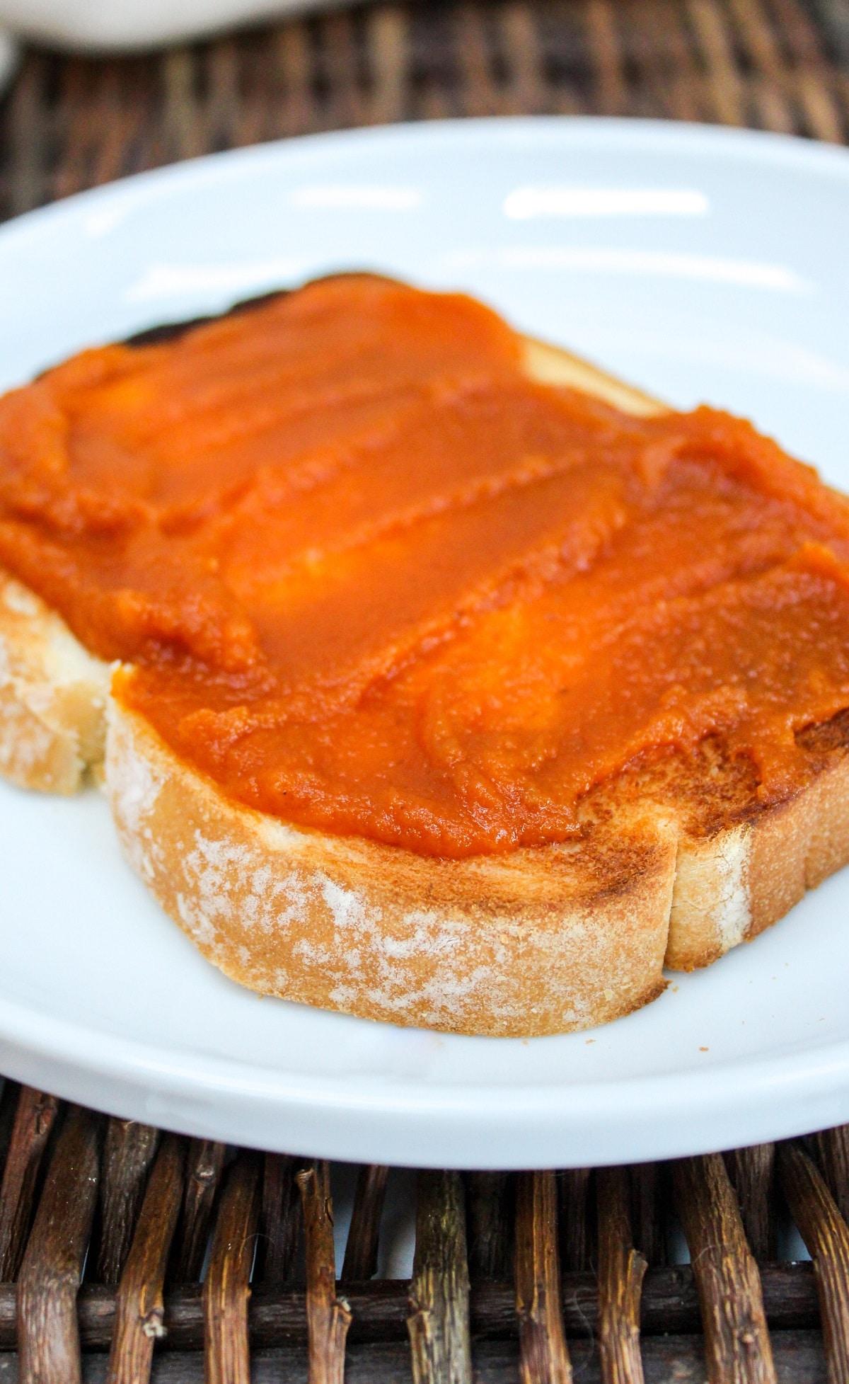 pumpkin butter on toast